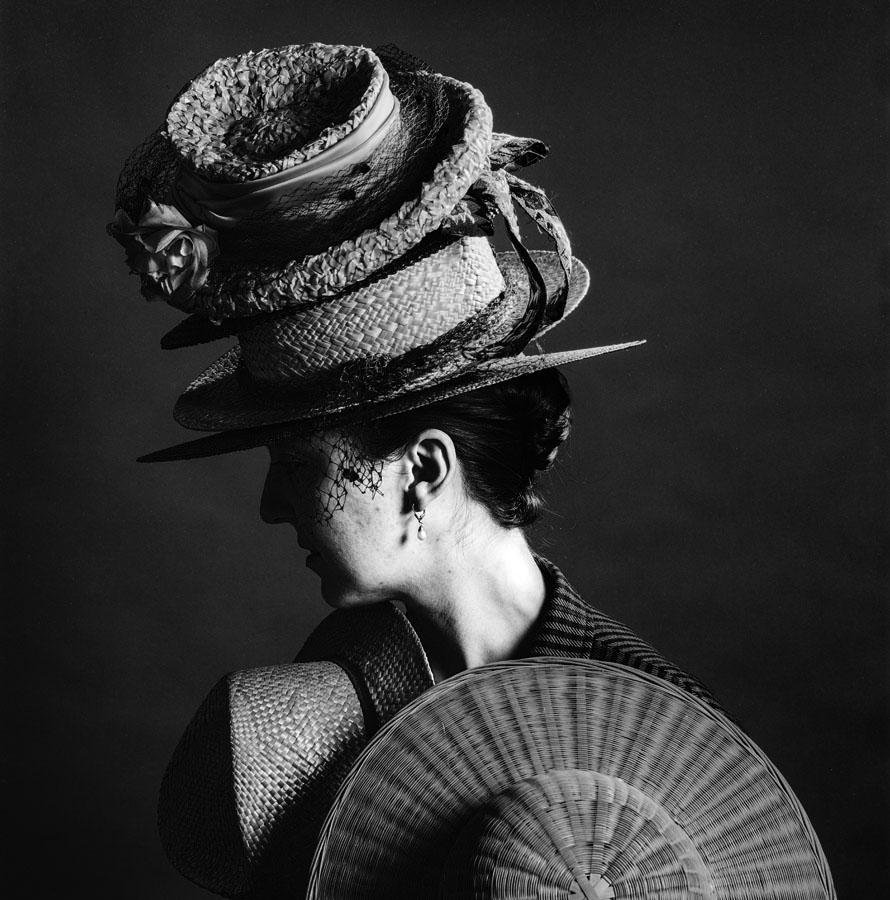 chapeau, modèle, studio
