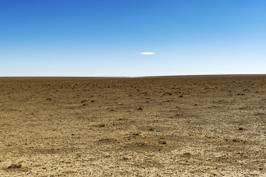 désert, mirage, Hauts plateaux, Maroc Oriental