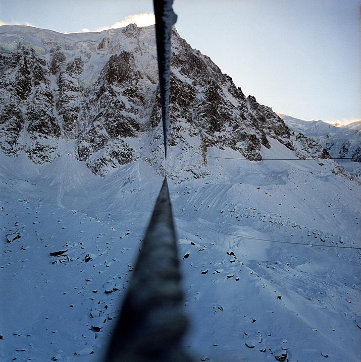 France, Chamonix, téléphérique de l'Aiguille du Midi