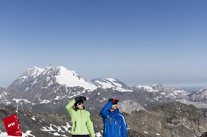France, Savoie, Ski d'été à Val d'Isère