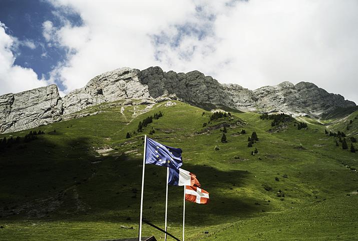 France, Haute-Savoie, La Clusaz, col des Aravis