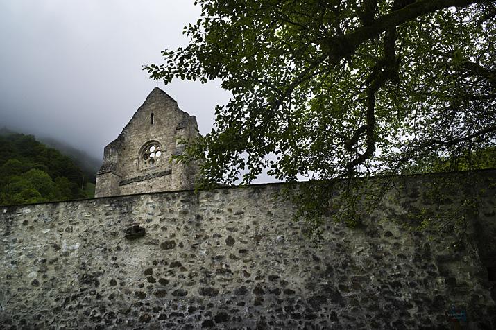 France, Haute-Savoie, Chablais, abbaye d'Aulps