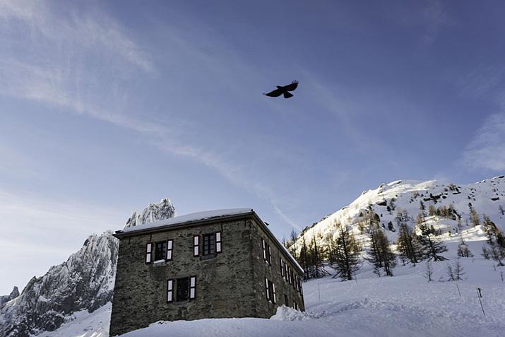 Alpes, Chamonix, Mont Blanc, chouca, hiver, neige, froid