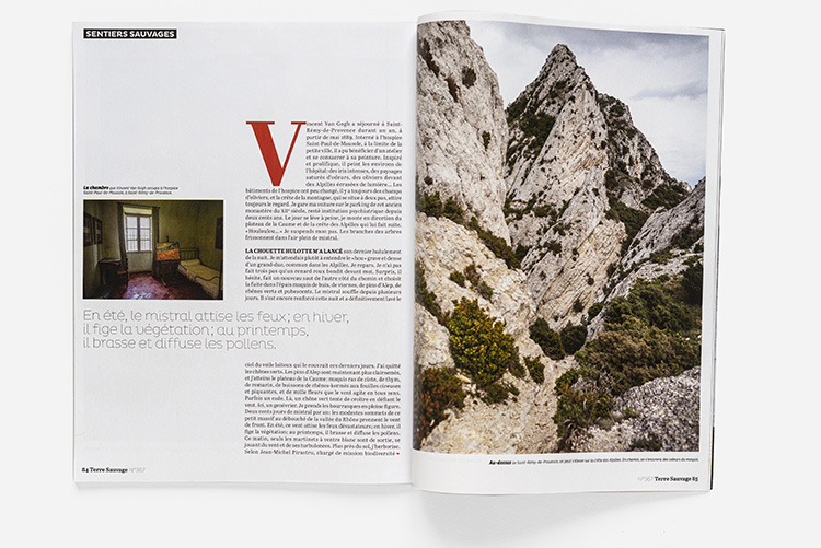 Terre Sauvage n°368 - sentiers Alpilles